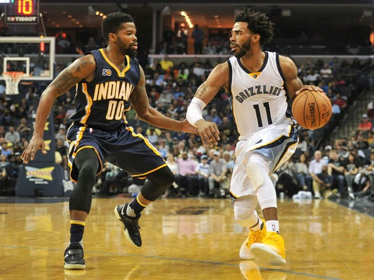 Mike Conley, who won three state titles at Lawrence North High School, has played 12 years in Memphis.