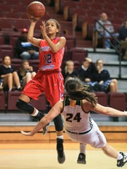 CAL's Shelby Calhoun has 16 points, nine rebounds in the Lady Centurions' 57-45 win over North Bullitt Tuesday in the first game of the Girls LIT at Bellarmine University.
