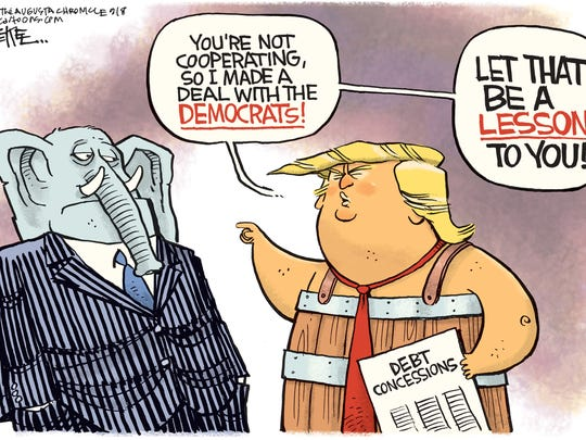 Rick McKee, The Augusta Chronicle, drew this editorial