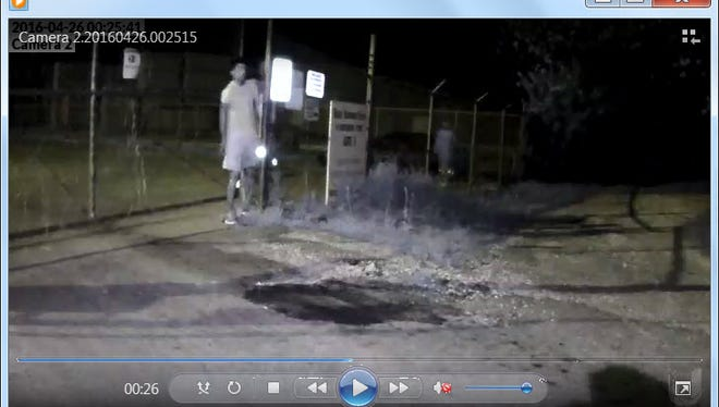 Jackson police are looking for three men suspected of breaking into cars at Armstrong Flooring April 26.
