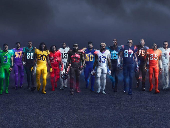 NFL's new Nike Color Rush uniforms