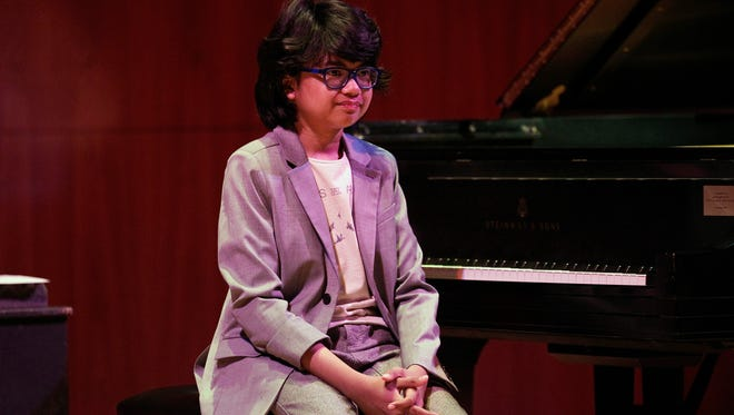 Then 12-year-old pianist Joey Alexander turns to the sold-out Hatch Recital Hall crowd on the second night of the 2015 Xerox Rochester International Jazz Fest.