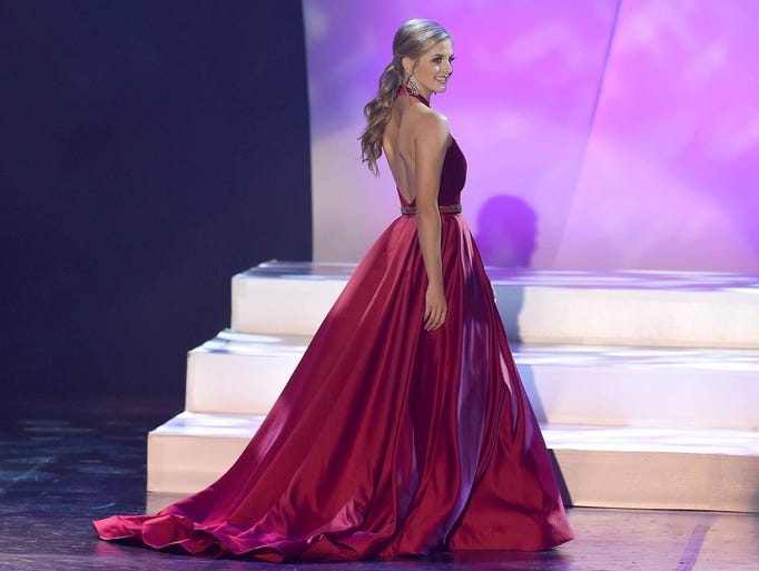 Miss Madison Metro Rachel Shumaker competes in evening