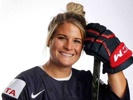 Brianna Decker is part of the U.S. women's hockey team