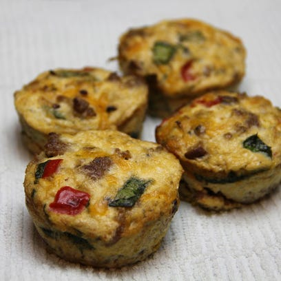 Get your day started with healthy bake-ahead morning egg cups.