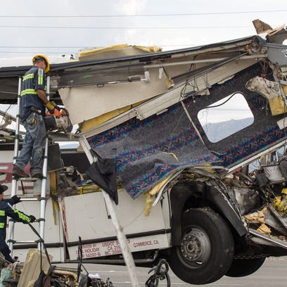 A look at other deadly bus crashes in California and across the country