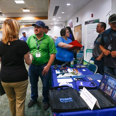 College's annual job fair busy as economy rebounds