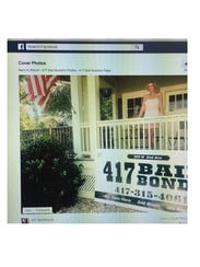 Somer Speer stands outside her business, 417 Bail Bonds,