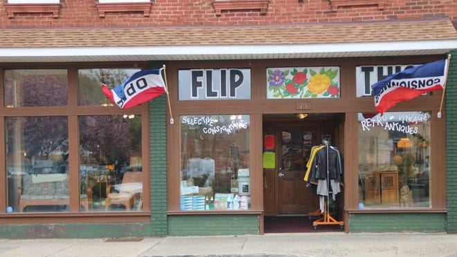 Flip This, a new Port Jervis consignment store with two large rooms devoted to furniture and clothes, was allowed to open early because it also sells hand sanitizer and disinfectant.