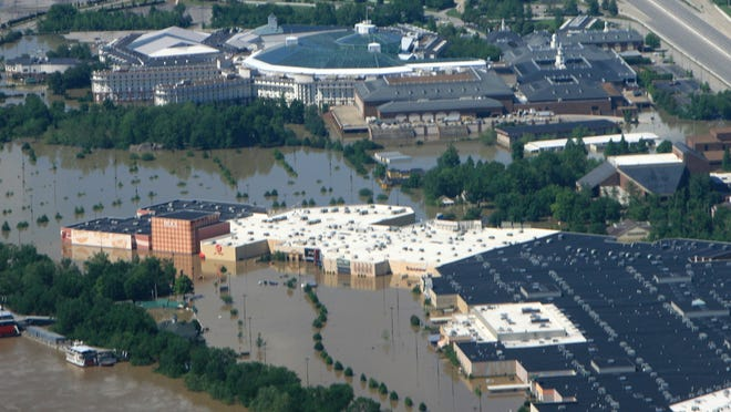 The 2010 Nashville flood left portions of Opry Mills up to 10 feet underwater.