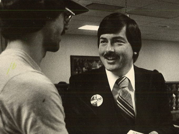 Terry Branstad sported a mustache back in 1978 when