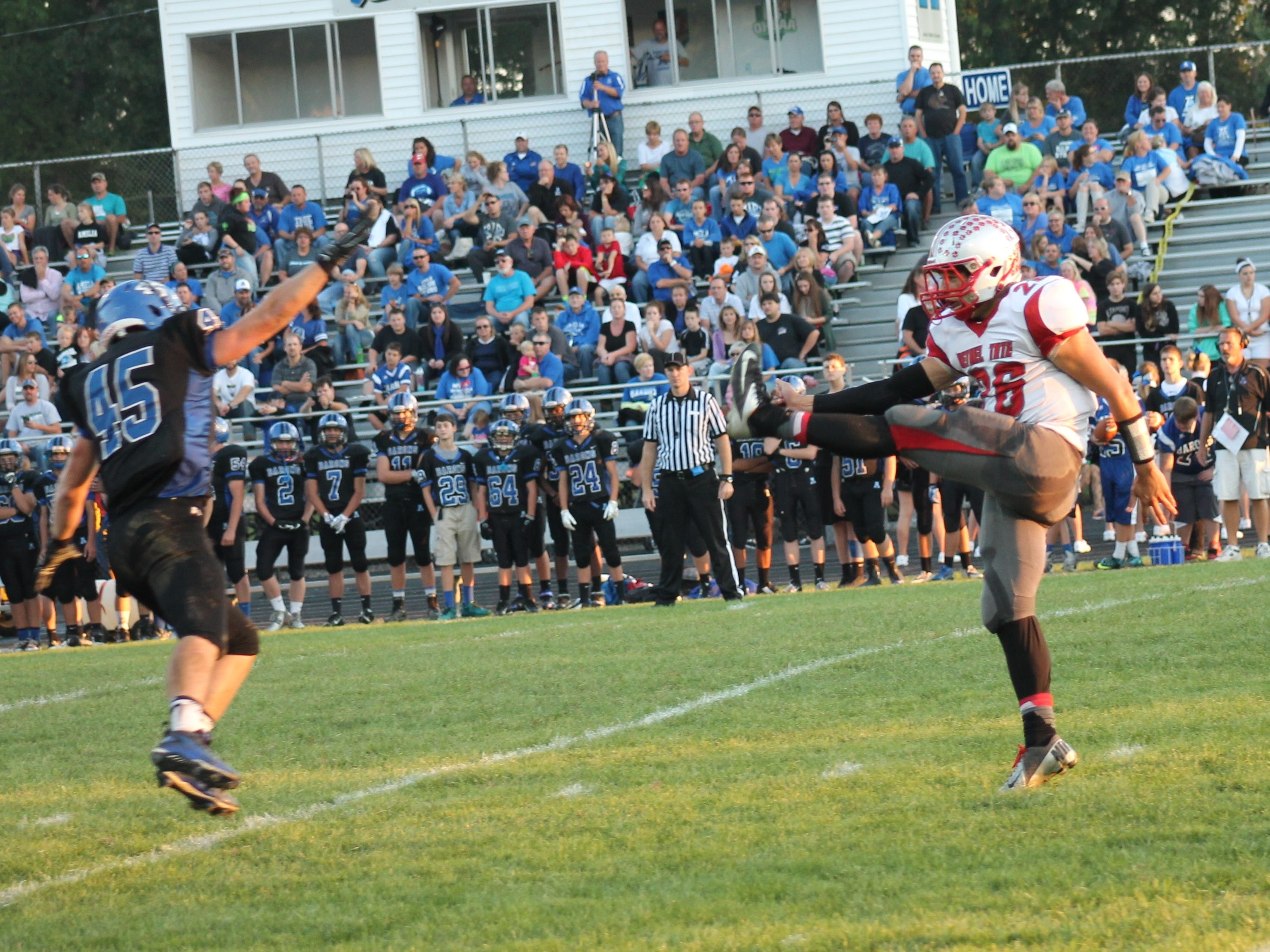 Junior Jeffrey Botts was Bethel-Tate's all-purpose man in 2014. He had 56 tackles and an interception as a defensive back; ram for 501 yards and eight touchdowns as a quarterback; and returned kicks and punted.
