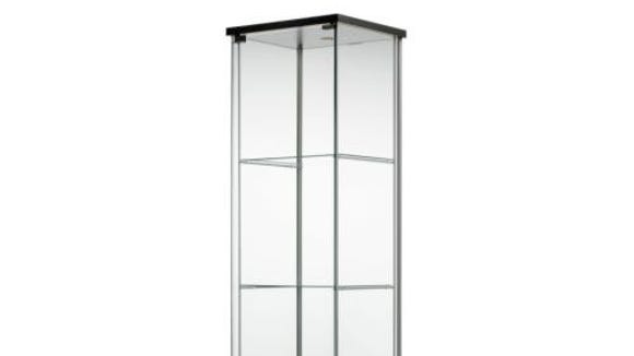 This Delof glass-door display cabinet is $69.99 at Ikea.com.