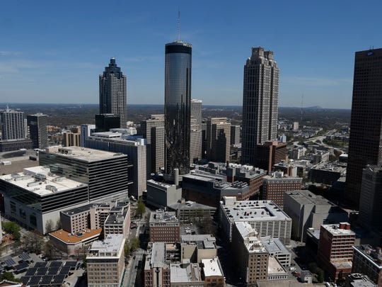 No. 1: Hartsfield-Jackson Atlanta International: The Atlanta skyline is seen here in March 2014.