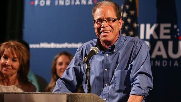 Republican Senate candidate Mike Braun, winner of Indiana's