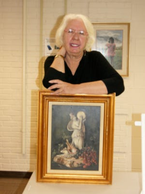 Jackie Mickler will exhibit her works on art at the Fairview Library during April.
