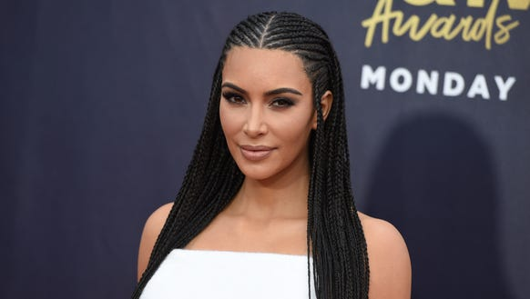 Kim Kardashian West at Saturday's MTV Movie & TV Awards.