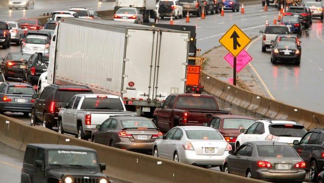 A traffic jam in Richmond, Va.