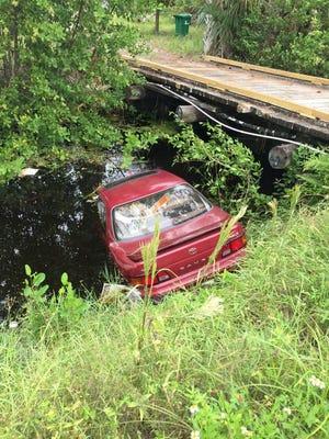 The scene of the crash on Merritt Island.