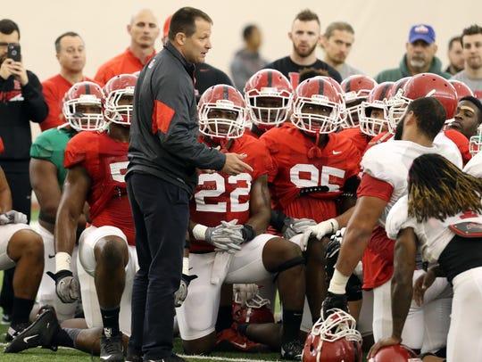 Rutgers wrestling coach Scott Goodale addressed the