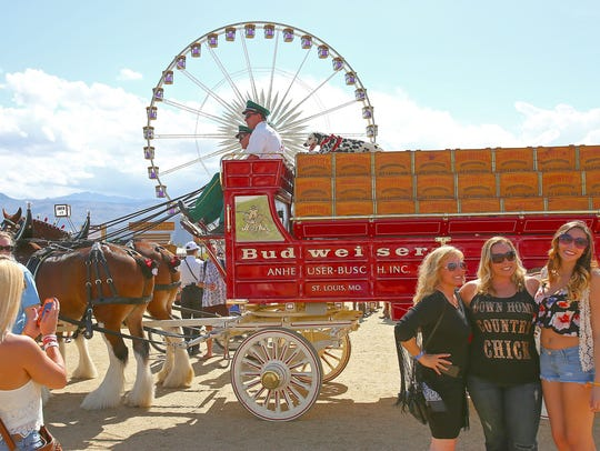Stagecoach fans get a close up look at the Budweiser