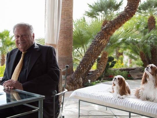 Philanthropist and businessman Harold Matzner poses for a photo at his home in Palm Springs, Calif., Monday, December 5, 2016.
