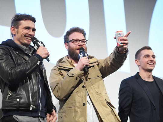 James Franco (from left), Seth Rogen and  Dave Franco