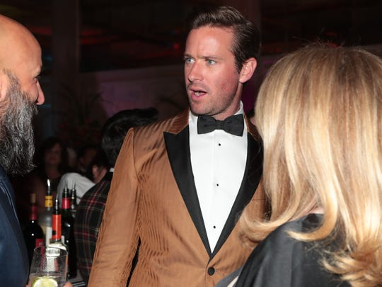 Armie Hammer attends the Palm Springs International Film Festival Gala after party, January 2, 2017.