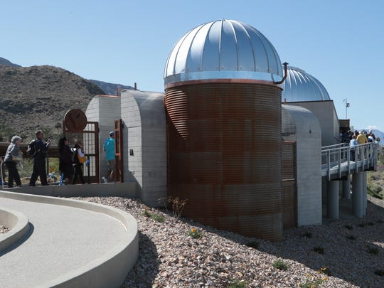 Hundreds attend the dedication ceremony for the new Rancho Mirage Observatory, Sunday, March 25, 2018.