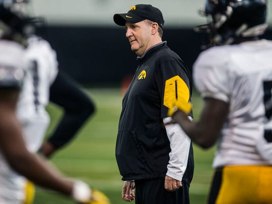 Iowa defensive coordinator Phil Parker has been on Kirk Ferentz's staff since his first year of 1999.
