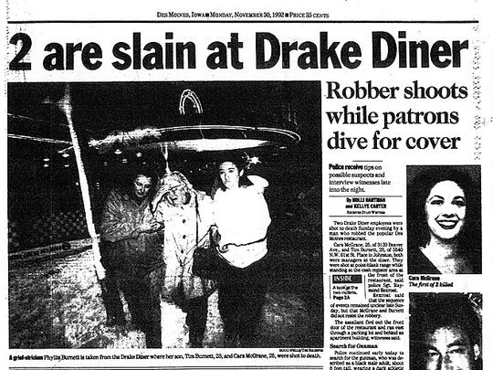 The Des Moines Register's  coverage of the 1992 Drake Diner shooting.