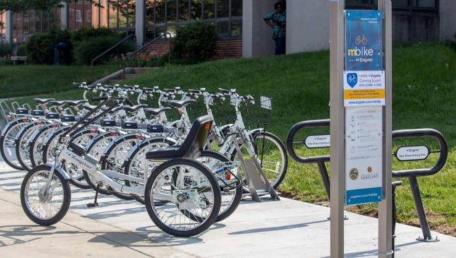 Zagster bicycles through a bike share program