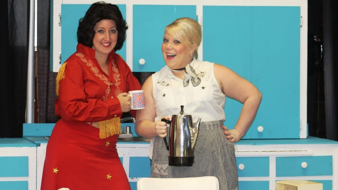 """Taylor Pawley (left) and Carolyn Johnson star in Keizer Homegrown Theatre's musical production of """"Always ... Patsy Cline"""" opening May 15 at the Keizer Lions Club Auditorium."""