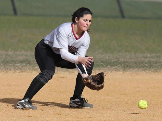 Amber Servidio of Wayne Hills makes this play at second.
