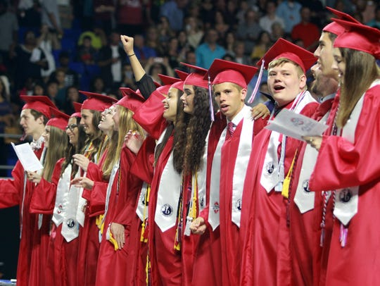 Oakland High held its 2017 graduation ceremony at MTSU's