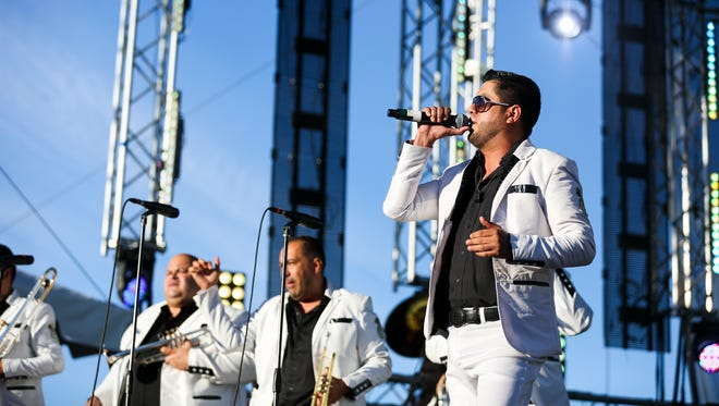 La Original Banda Limon performs at Reventon de Verano, or Summer Blowout, on Sunday, Aug. 21, 2016, at Riverfront Park. The all-day concert featured regional Mexican music and was hosted by Salem Media Group.
