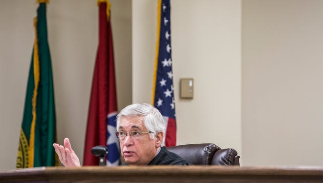 Environmental Court Judge Larry Potter, shown here during a 2016 hearing.