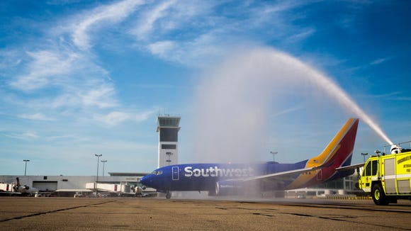 The first Southwest plane to take off from Cincinnati/Northern