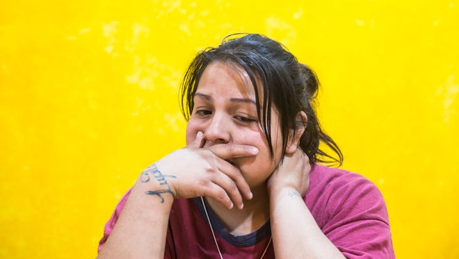 """February 08, 2018 - Maris Morales, 25, speaks about her former common-law husband, Bardomiano Perez Hernandez, who was the person found dead in a van in a police impound lot. Morales says that he is the father of her youngest of her four daughters. """"My girls love him so much. I know they're gonna miss him."""""""