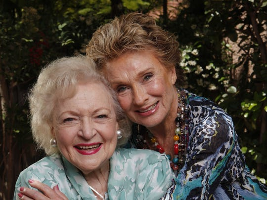 "Cloris Leachman and Betty White pose for a photo shoot at the Beverly Hills Hotel in Beverly Hills, CA. The two Mary Tyler Moore Show alums were flying high in two hotly anticipated summer films: Betty White is a naughty 90-year-old ""gammy"" in the comedy The Proposal and Cloris Leachman in the Quentin Tarntino WWII filme Inglourious Basterds."