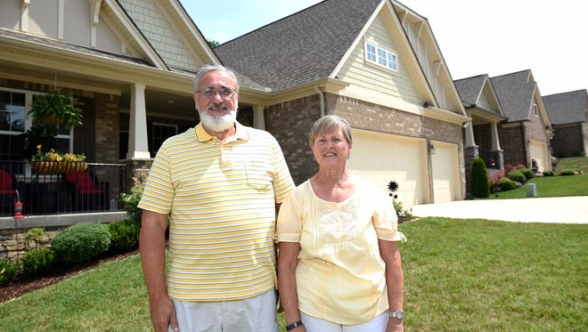 Harriet and Leonard Rudy now live at the Travis Trace subdivision in Bellevue after downsizing from a home in Brentwood.
