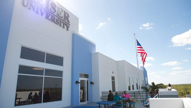 "Keiser University's Port St. Lucie campus relocated to a new building near Tradition on Monday, March 20, 2017. ""(I'm) thrilled for our students to have a fresh new environment,"" said campus president Leslie Kristof. ""A place to study, learn, collaborate and achieve their personal goals."""