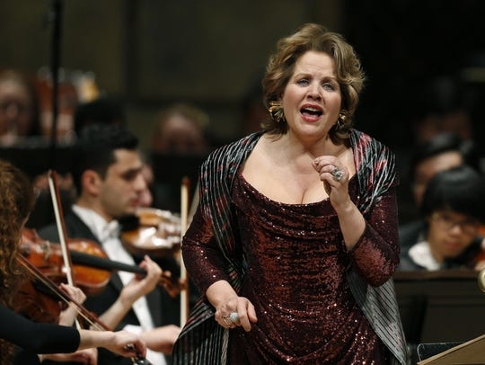 "In this file photo, Renee Fleming appears in the world premiere of ""Letters From Georgia"" at the Kodak Hall at Eastman Theatre."