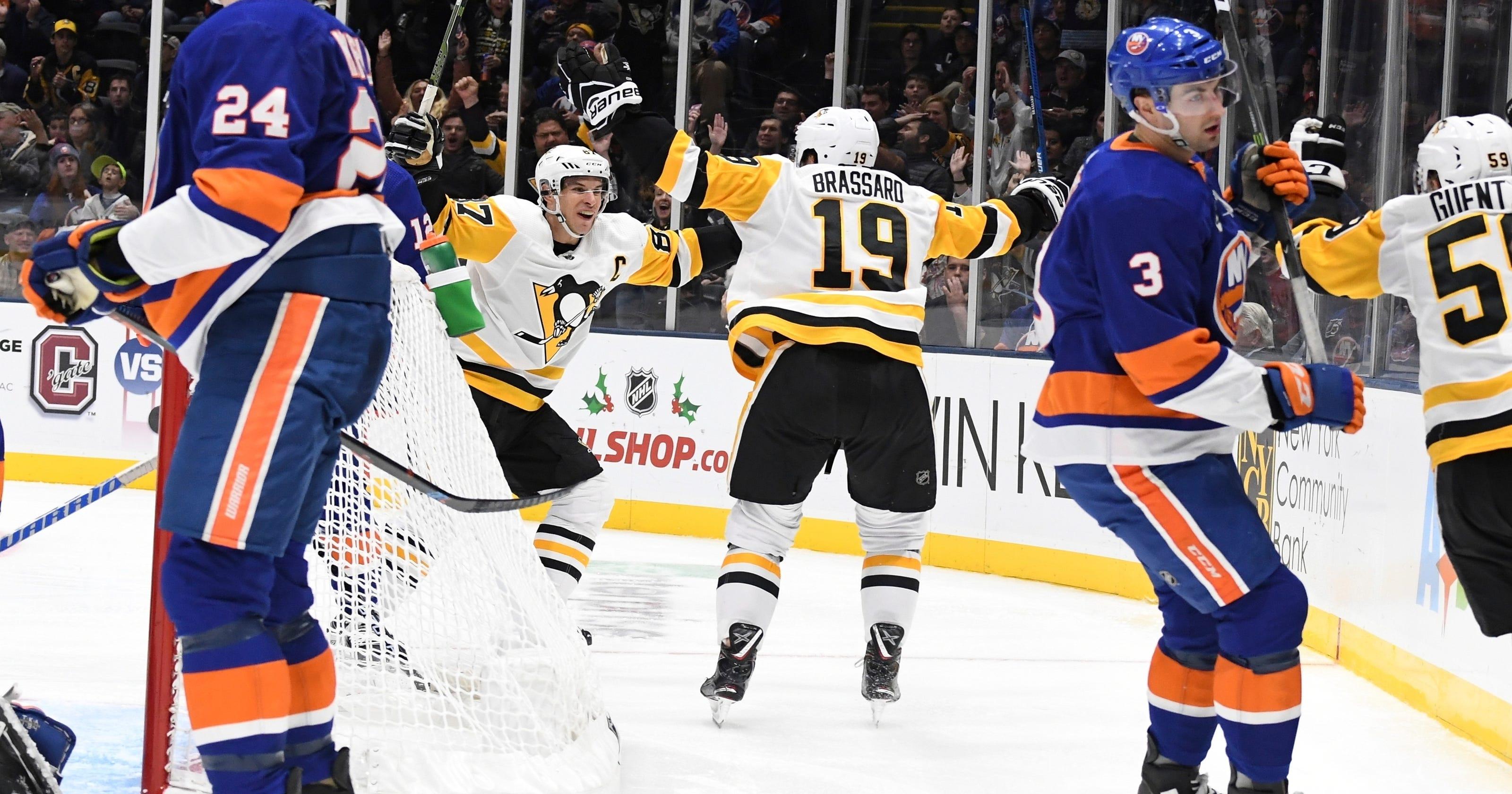 online retailer 79abf 83267 Guentzel helps Penguins top Islanders 2-1