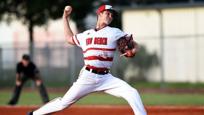 Vero Beach High School right-handed pitcher David Luethje was invited to play at the Under Armour All-America Baseball Game powered by Baseball Factory.