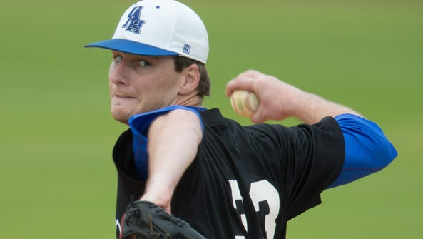 St. James graduate Wilson Adams, UAH's ace this season,