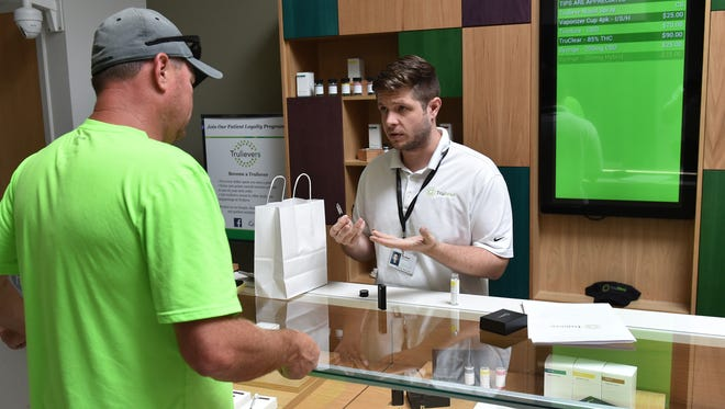 A look inside the Trulieve medical cannabis dispensary at 8701 North Dale Mabry Highway in Tampa. Trulieve is a Florida licensed medical cannabis provider, with locations currently in Clearwater, Edgewater, Miami, Pensacola, Tallahassee, Tampa, and The Villages.