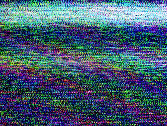 TV damage, television static noise