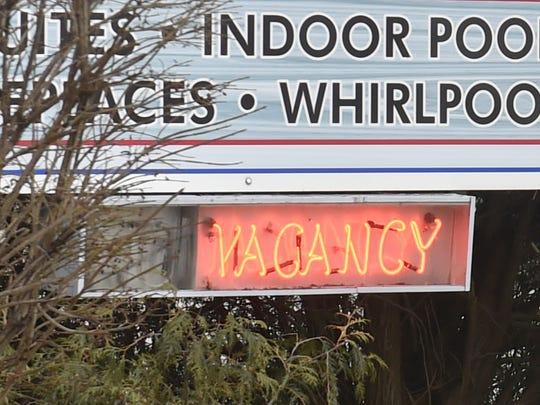 Tourist occupancy signs in Door County.