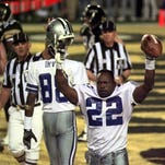 Pensacola native and Escambia HIgh grad Emmitt Smith, shown celebrating a touchdown in Super Bowl 30 in 1996, was named the fifth greatest player in Super Bowl history in an ESPN list of Top 50 all-time players in Super Bowl history.